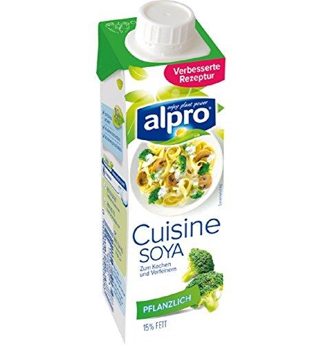 Alpro Soya Cusine (vegane Sahne), 15 x 250 ml