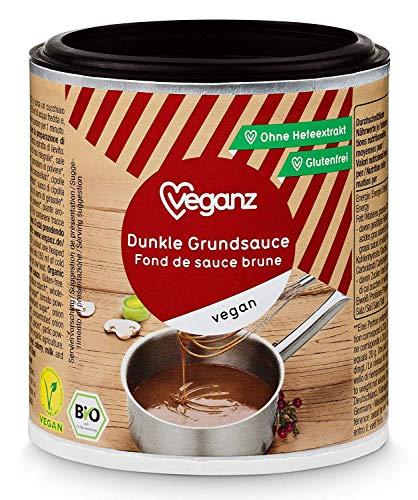 Veganz BIO Dunkle Grundsauce - Vegane Basis Sauce für Feinschmecker Saucen Rezepte - Soße Vegan Dunkel 2 x 140g
