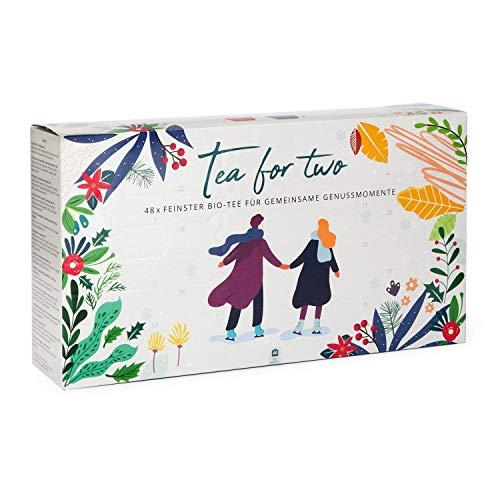 BIO Tee Adventskalender für Zwei 'Tea for Two' - 48 Premium Tees aus besten BIO Zutaten