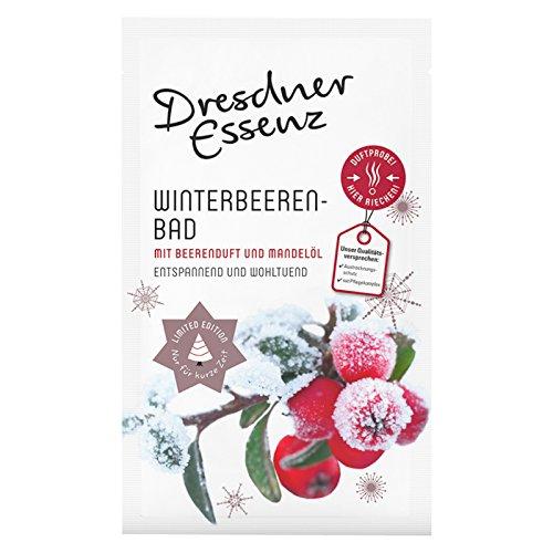 1 Tüte Dresdner Essenz Pflegebad Wellnessbad Winterbeerenbad 1 x 60 g, Badezusatz, Intensiv-Pflegekomplex mit Beerenduft & Madelöl