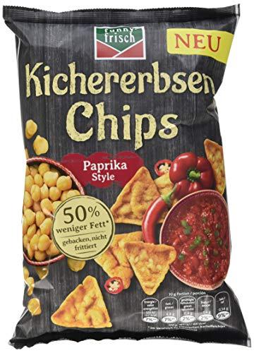 funny-frisch Kichererbsen Chips Paprika Style, 10er Pack (10 x 80 g)