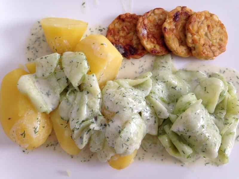 Rezept für veganen Gurkensalat