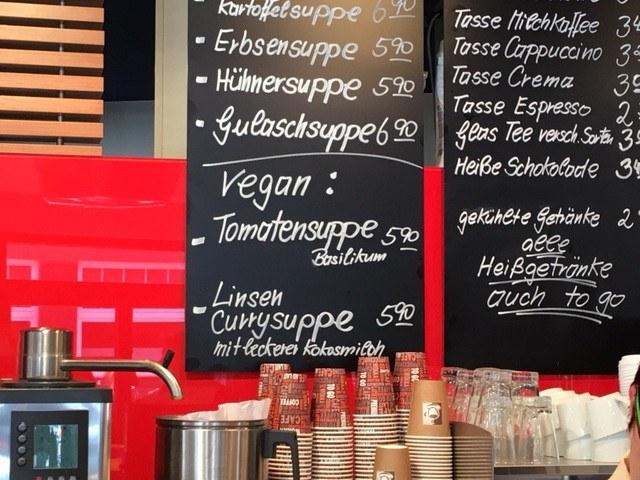 Tafel beim Strandbäcker Norderney
