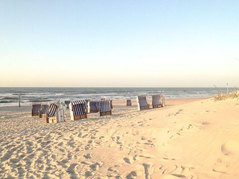 Strand an der weißen Düne Norderney