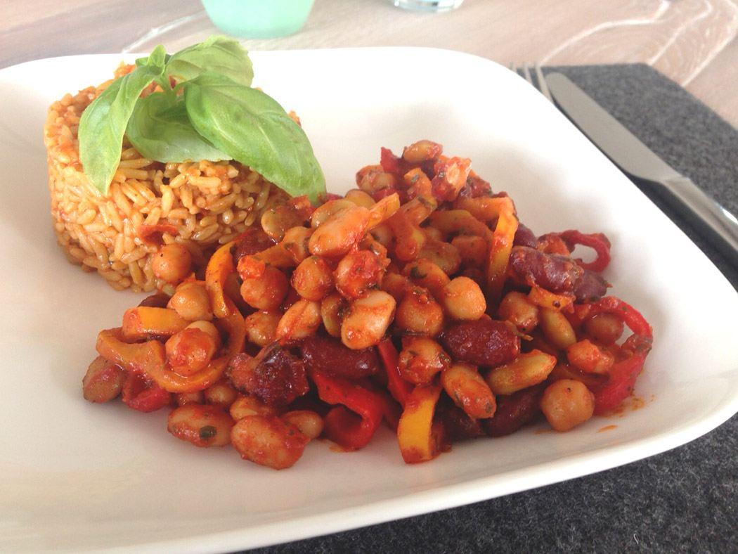 Reis und Bohnen deluxe