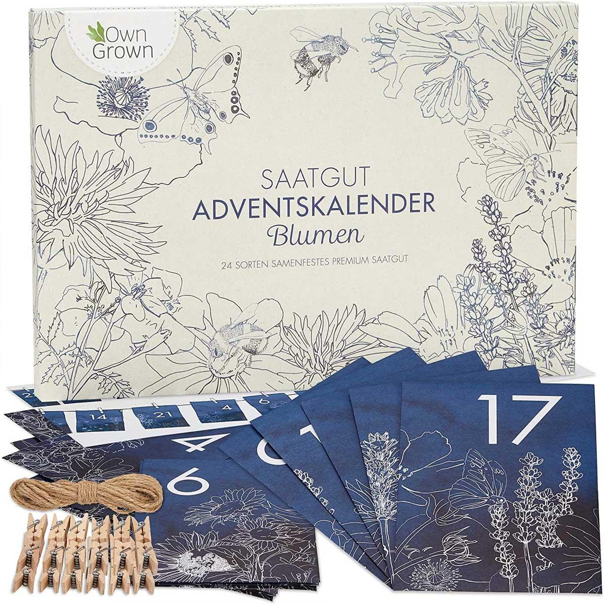 Blumen-Saatgut Kalender