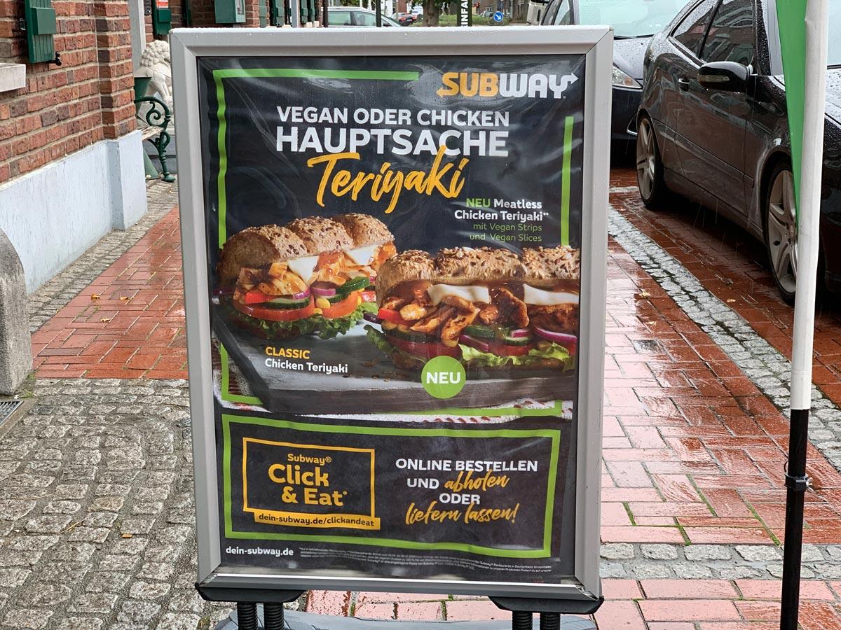 Subway vegan - Meatless Chicken Teriyaki Plakat