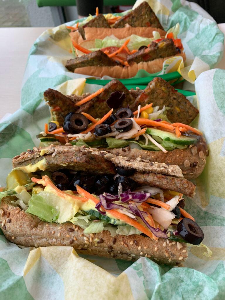 Vegan Spicy Patty Sub bei Subway