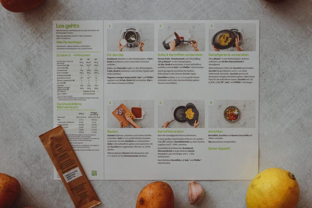 Kochanleitung Schritt für Schritt