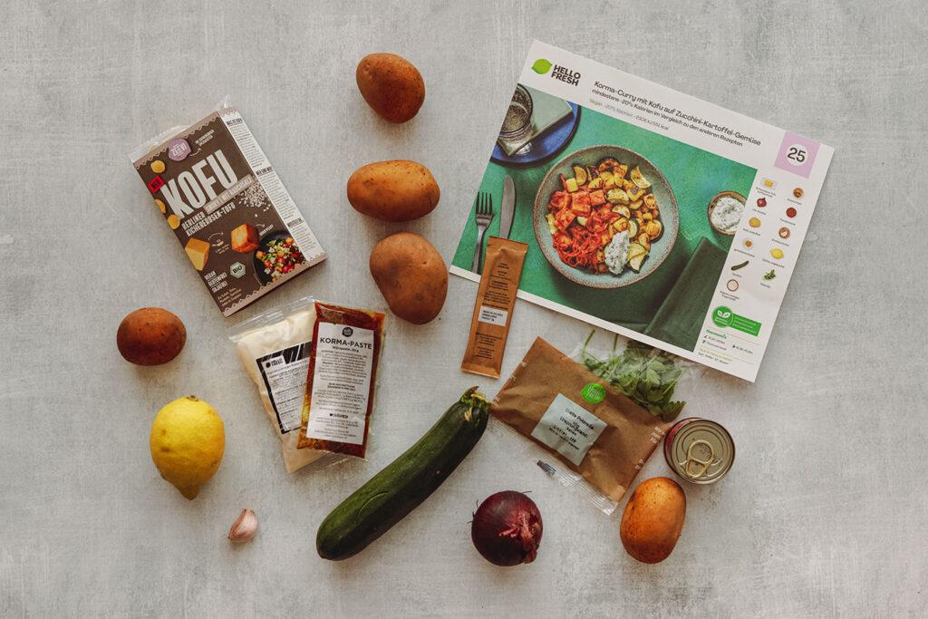 HelloFresh veganes Gericht: Die Zutaten