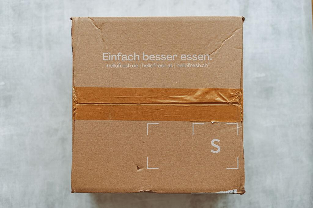 HelloFresh Kochbox - der Versandkarton