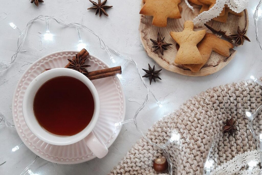 Weihnachten - Tee und Plätzchen