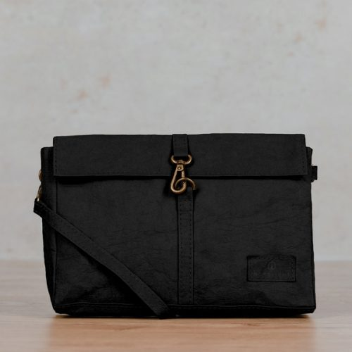 Nordlicht - vegane Tasche aus Papier - Mila schwarz