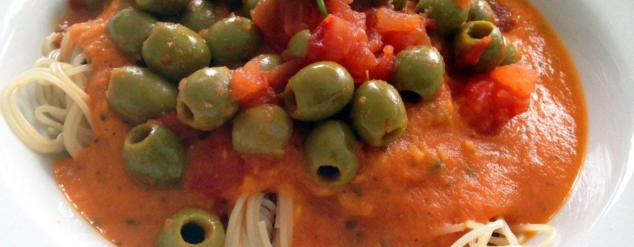 Spaghetti Napoli vegan