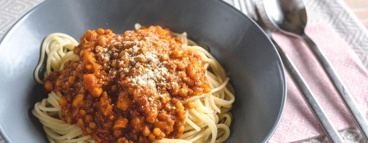 Vegane Linsen-Bolognese